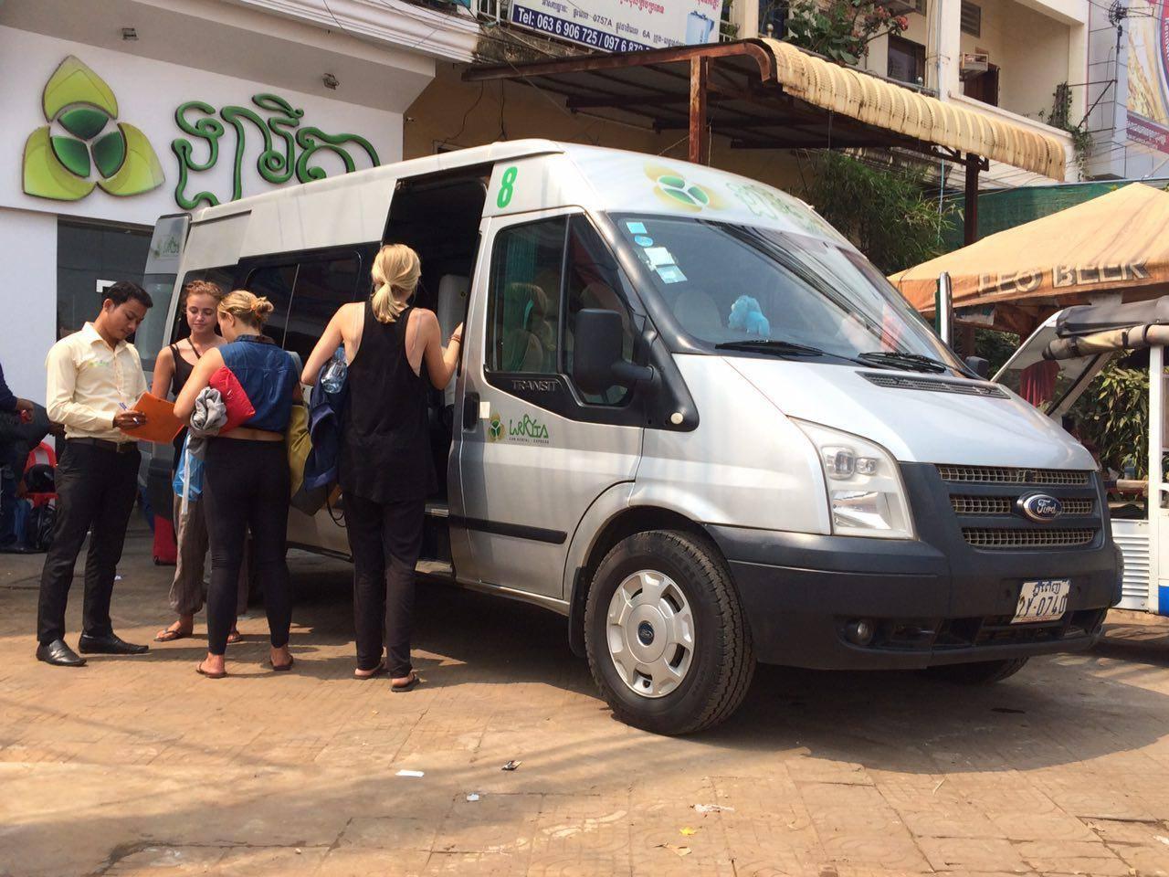 Mini-bus in Siem Reap