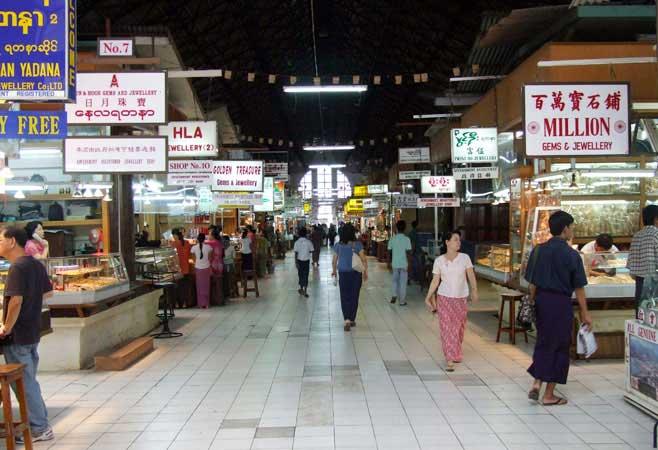 Inside Bogyuke Aung San market