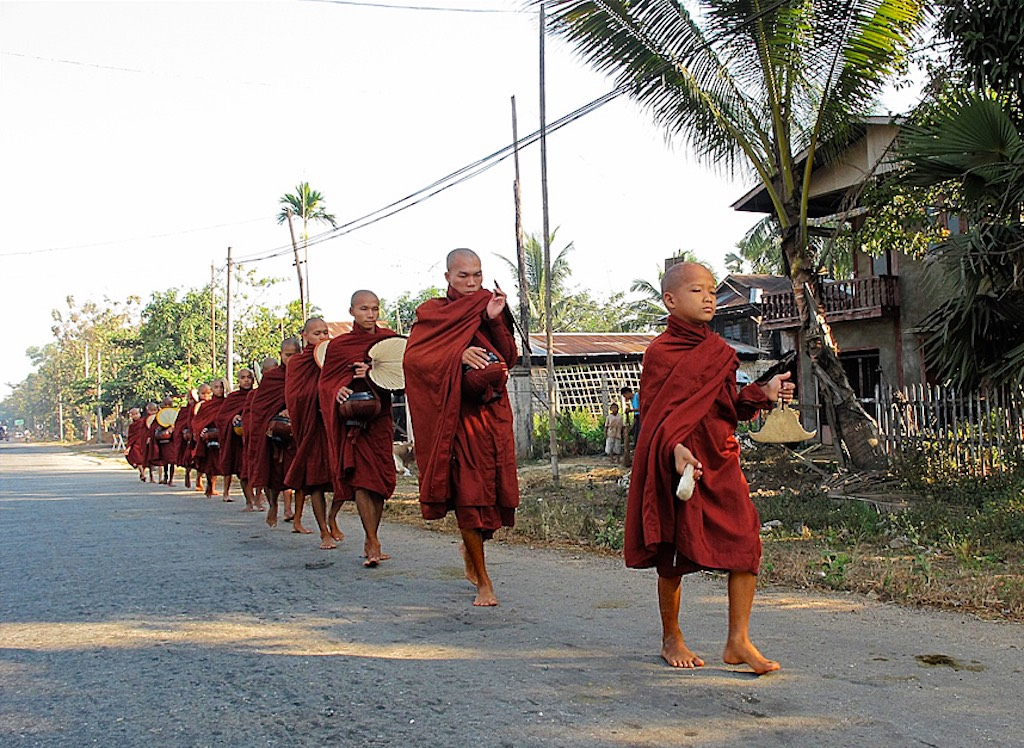 Not to step in the monks' shadow