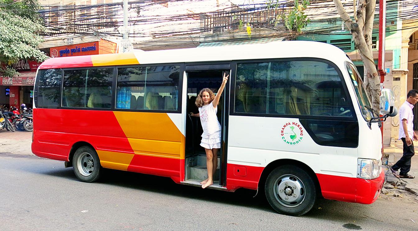 Bus between Kampot and Kep