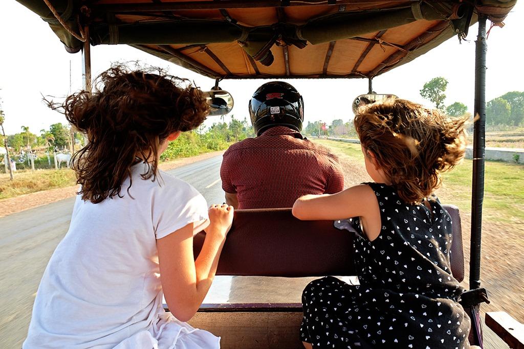 Tuk tuk between Kampot and Kep