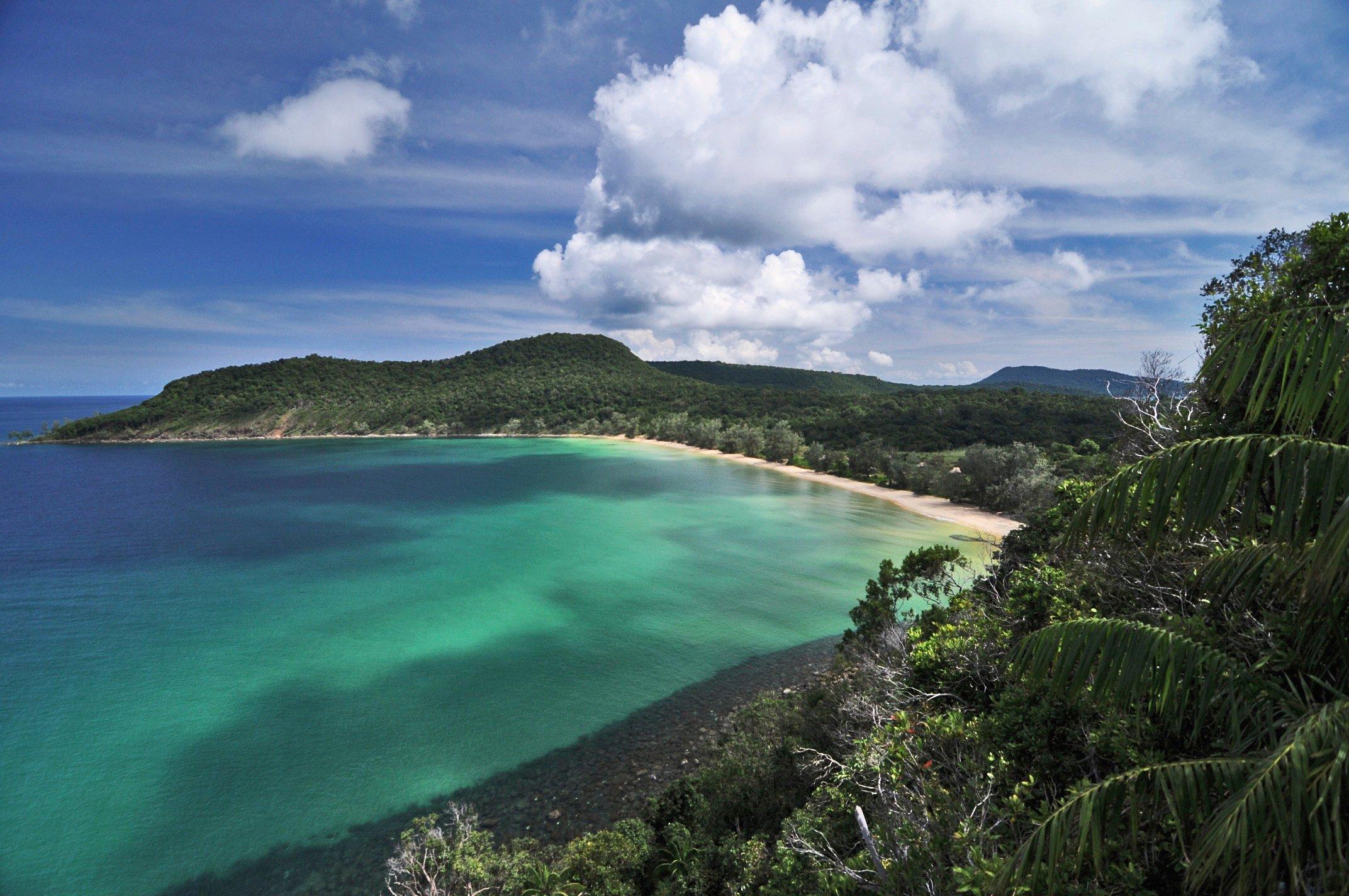 A majestic summer landscapes in Cambodia's beach