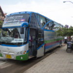 Traveling by mini-bus is the cheapest way to get from Bangkok to Siem Reap