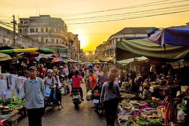 A corner of Kanda Market in Phnom Penh