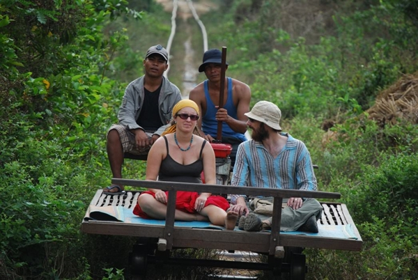 Bamboo train experience in Battambang