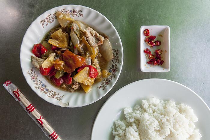 Khmer curry or stir-fry at Phsar Kabko Café