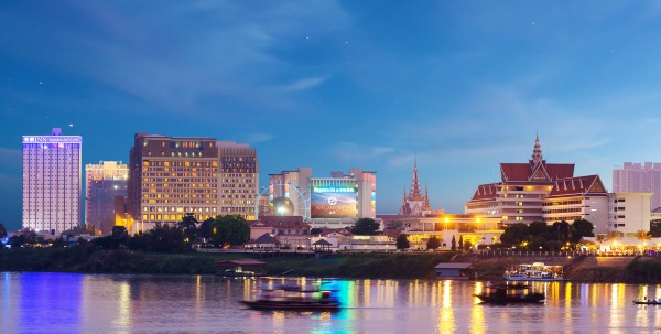 Nagaworld in Phnom Penh, near the banks of Mekong and Tonle Sap river