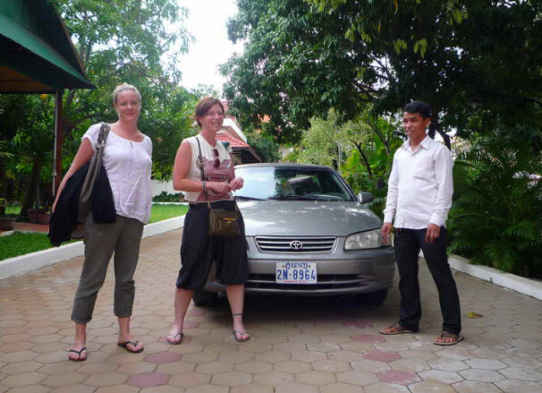 Taxi to Siem Reap