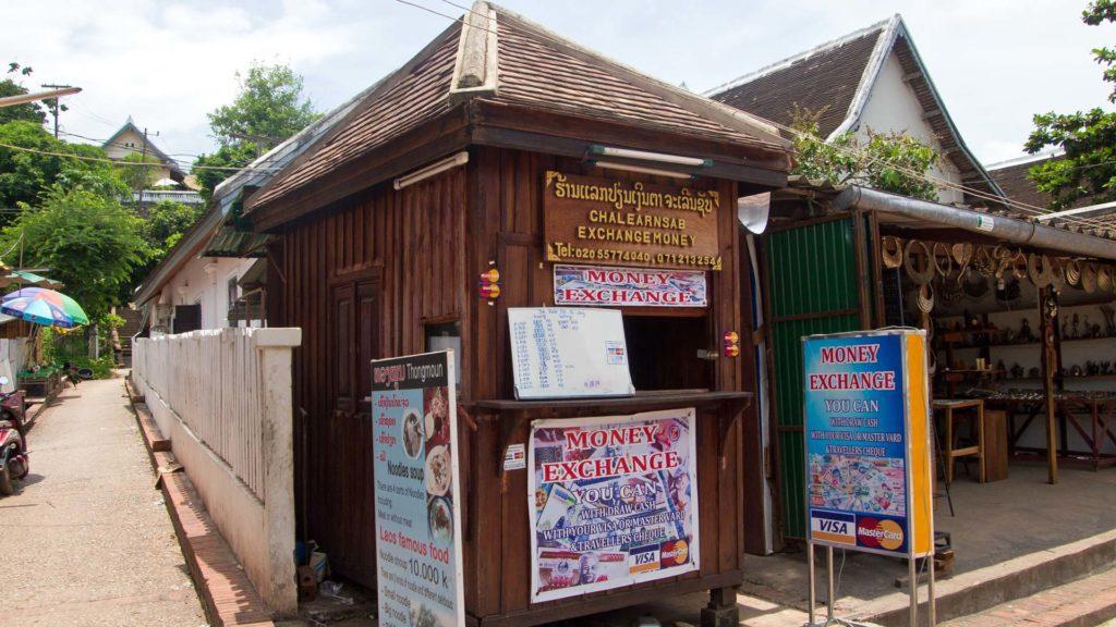 Money changer in Laos