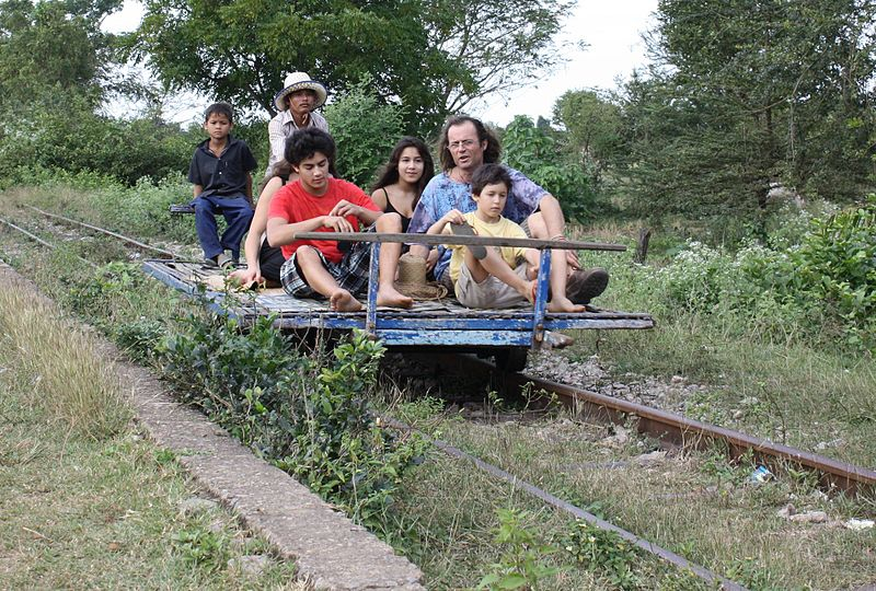 Riding the Cambodian bamboo train