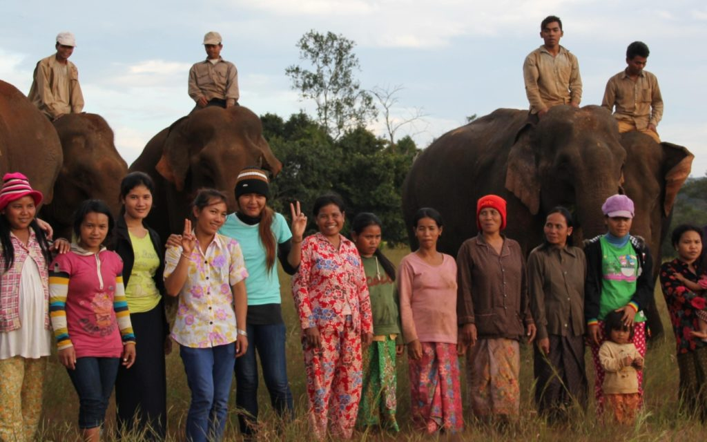 The local Bunong staff and elephants await you at Elephant Valley Project Mondulkiri