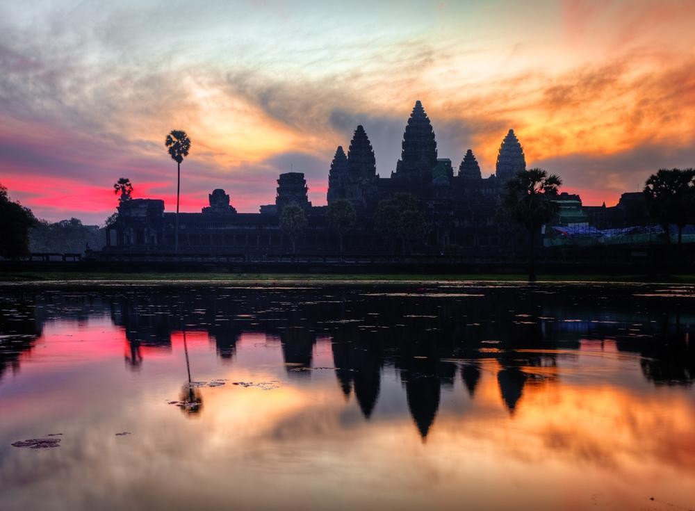 Sunrise at the Angkor Wat