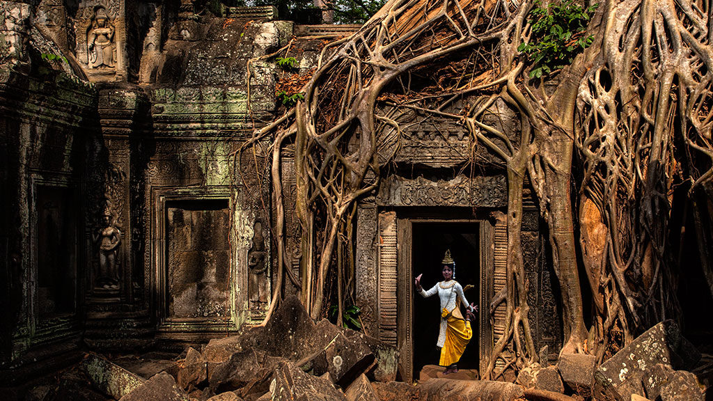 Ta Prohm in Temples of Angkor