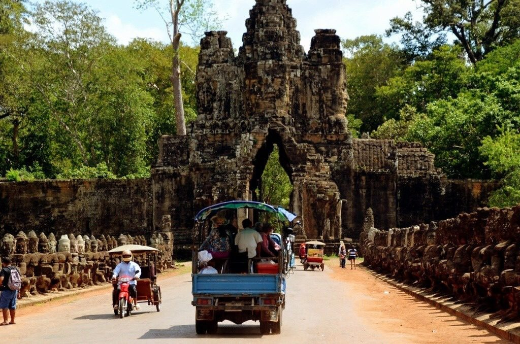 The Victory Gate in Angkor Thom, Cambodia