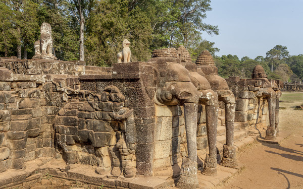 Elephant Terrace in Angkor Thom