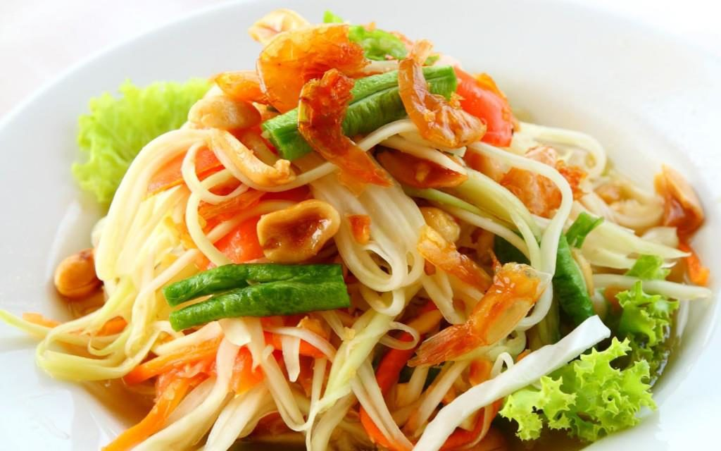 Green papaya salad is an addicting dish in this stunning land